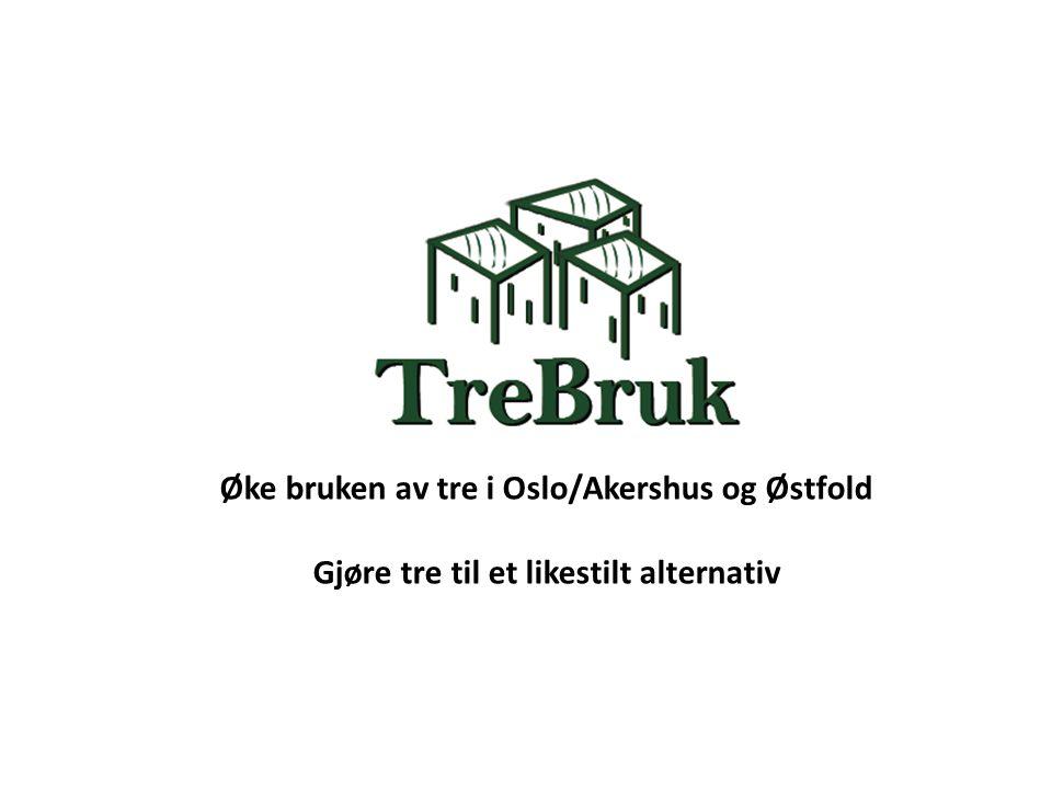 Øke bruken av tre i Oslo/Akershus og Østfold Gjøre tre til et likestilt alternativ