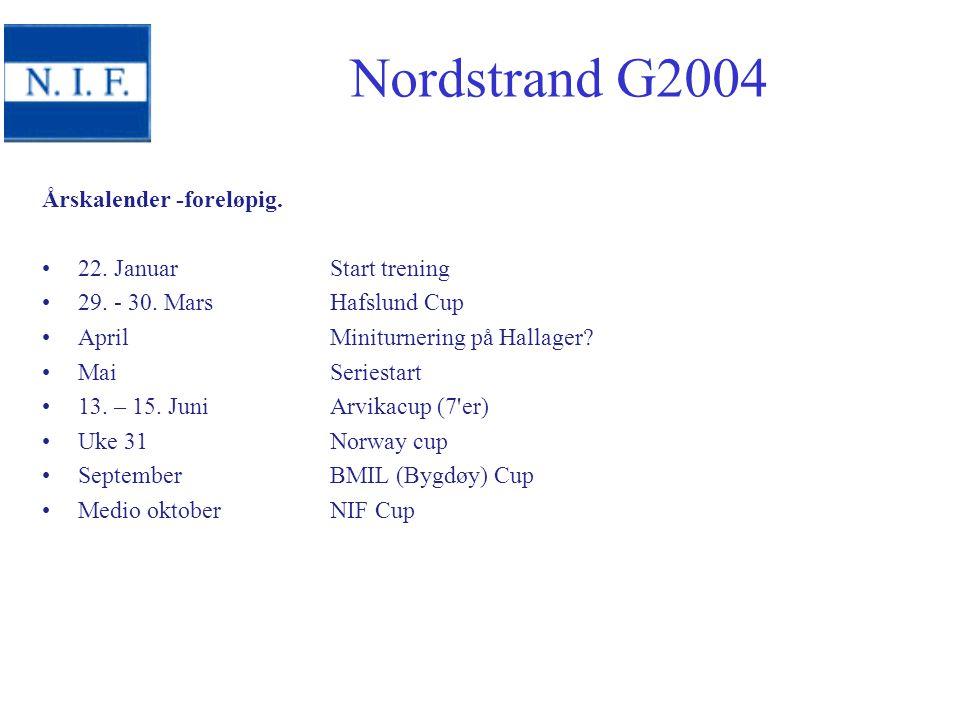 Årskalender -foreløpig. 22. Januar Start trening 29.
