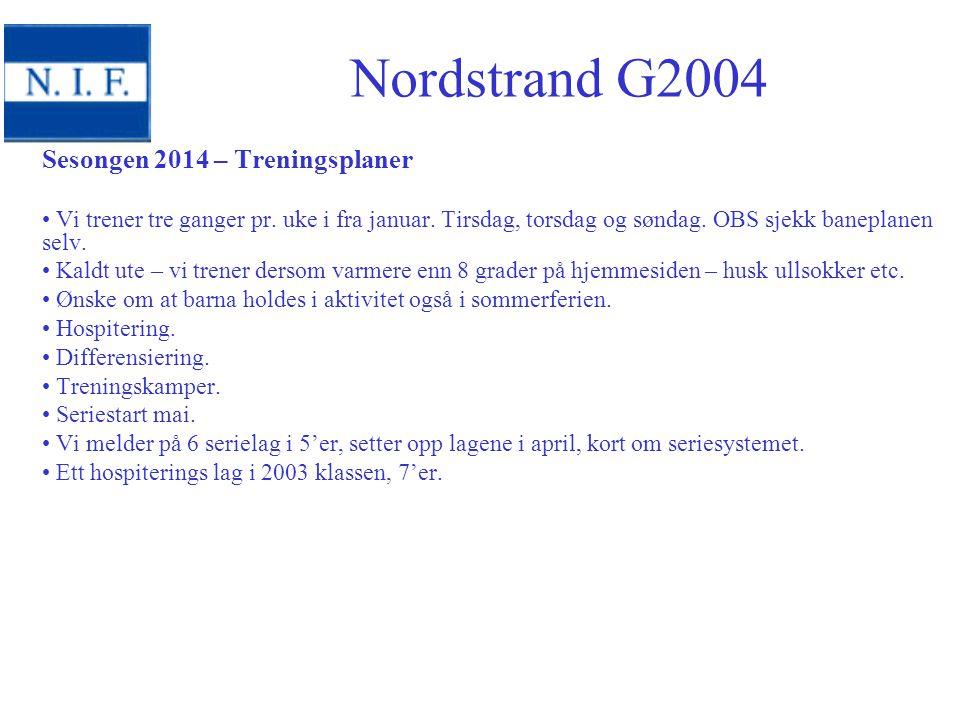 Sesongen 2014 – Treningsplaner Vi trener tre ganger pr.