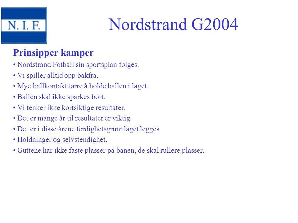 Prinsipper kamper Nordstrand Fotball sin sportsplan følges.