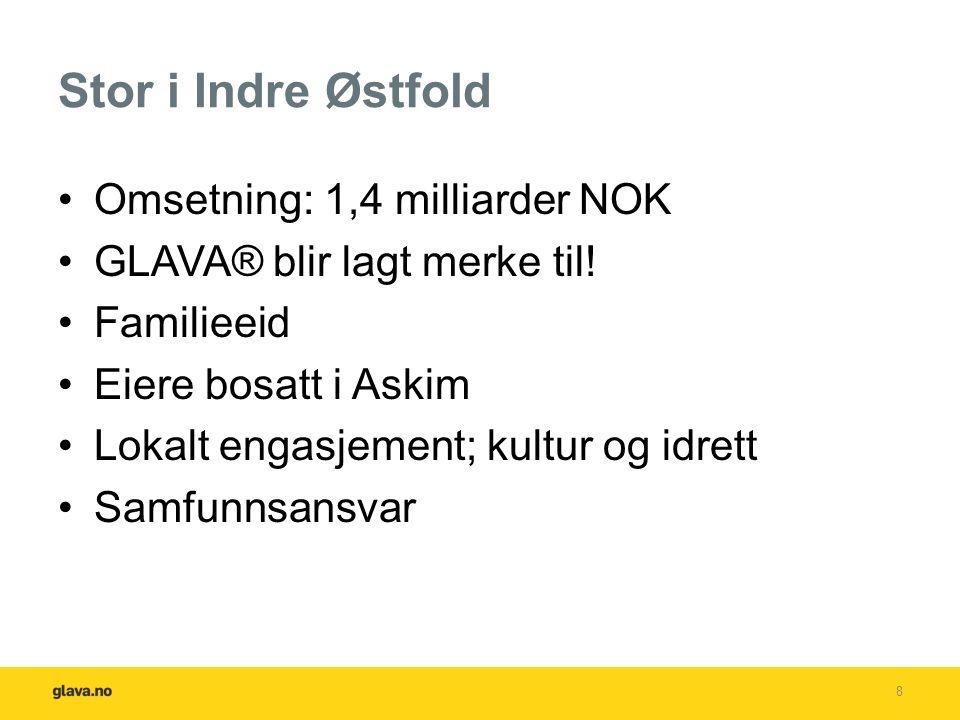 Stor i Indre Østfold Omsetning: 1,4 milliarder NOK GLAVA® blir lagt merke til.