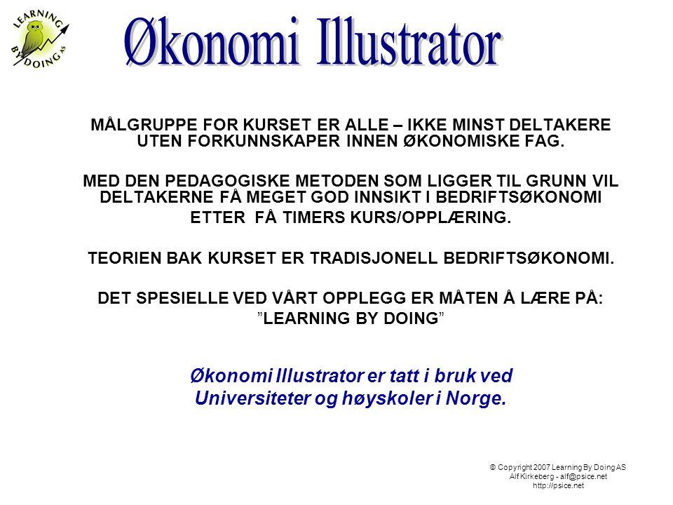 Økonomi Illustrator er et effektivt kompetanse verktøy som gir større innsikt i bedriftsøkonomi.