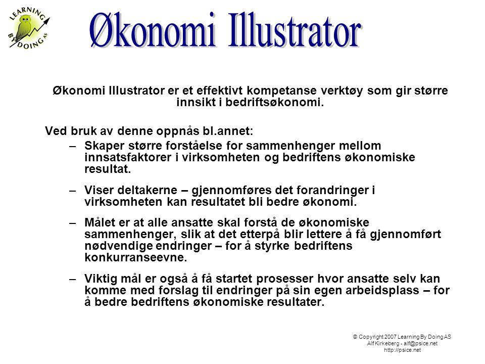 Økonomi Illustrator er et effektivt kompetanse verktøy som gir større innsikt i bedriftsøkonomi. Ved bruk av denne oppnås bl.annet: –Skaper større for