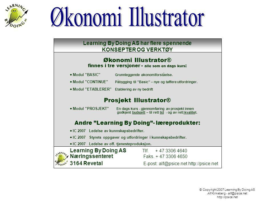 © Copyright 2007 Learning By Doing AS Alf Kirkeberg - alf@psice.net http://psice.net Learning By Doing AS mot nye høyder.