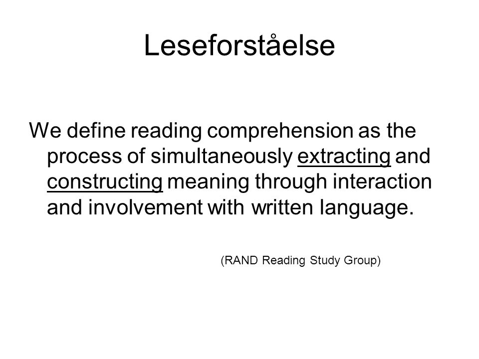 Studie 1 Fokus på mulige sammenhenger mellom personlig epistemologi og leseforståelse Inkluderte ped.