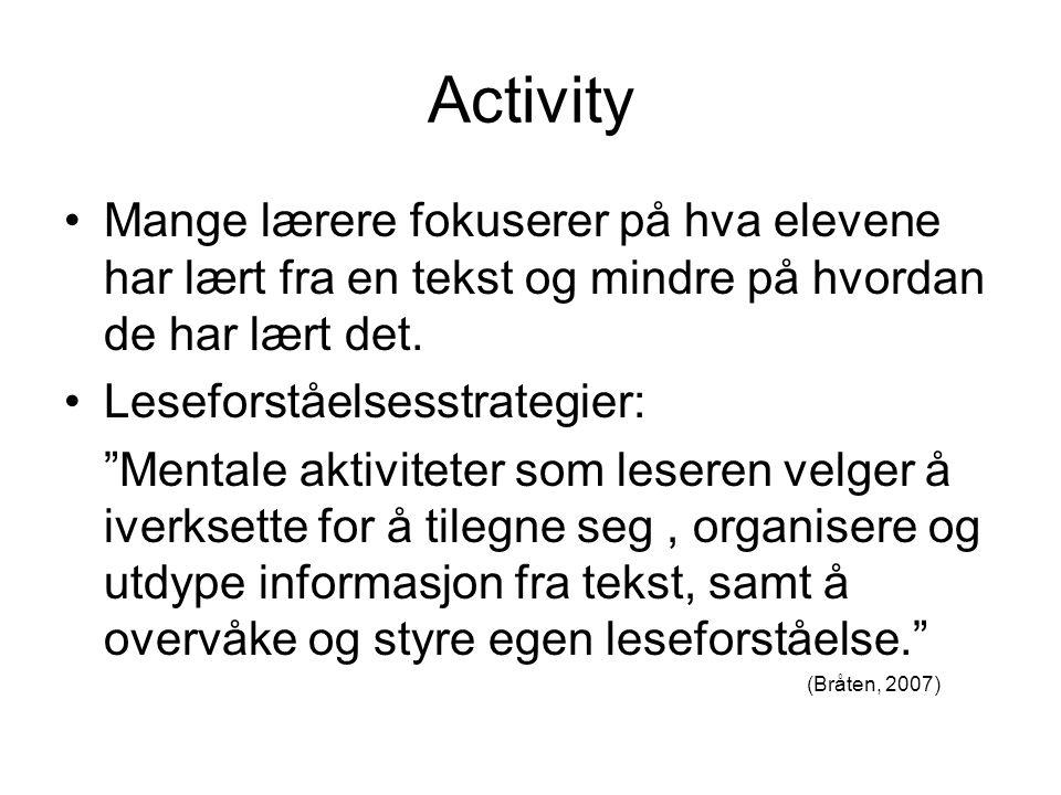 Noen kategorier av strategier Hukommelsesstrategier Elaboreringsstrategier Organiseringsstrategier Overvåkningsstrategier