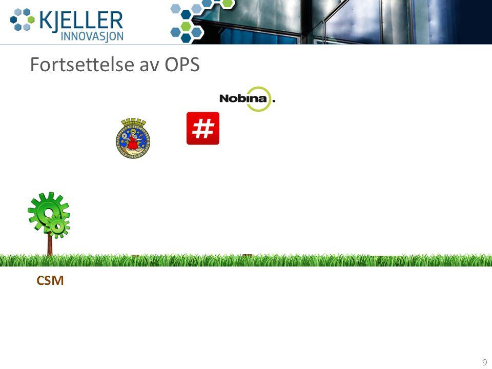 Fortsettelse av OPS Et forbedret prosjekt 9 Oslo Kommune CSMRuter Nobina Bypatruljen Andre byer? Andre land? Virksomhet?