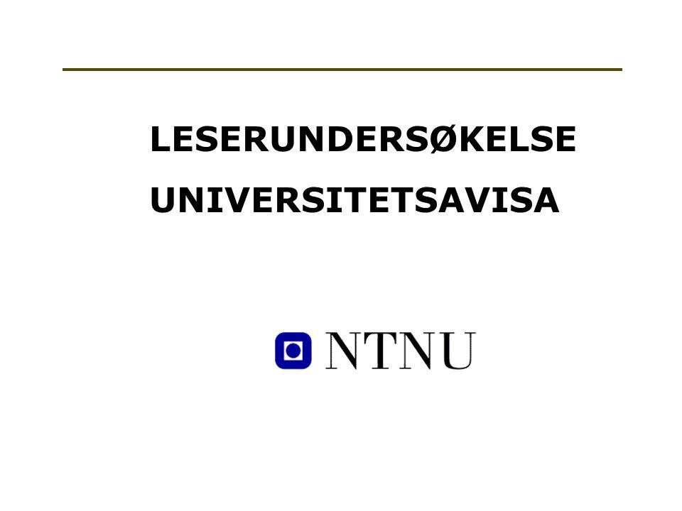 LESERUNDERSØKELSE UNIVERSITETSAVISA