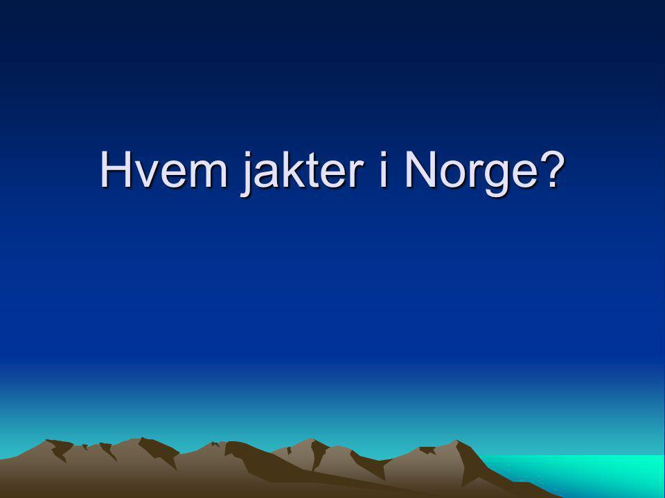 Hvem jakter i Norge?