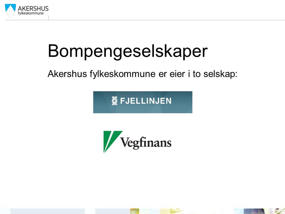 Bompengeselskaper Akershus fylkeskommune er eier i to selskap: