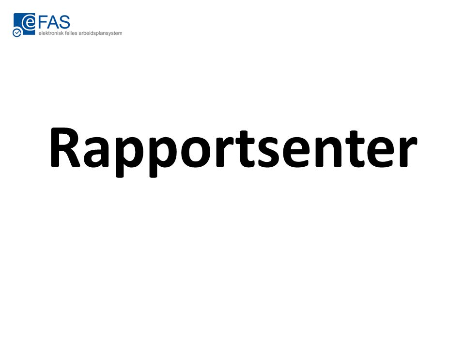 Rapportsenter