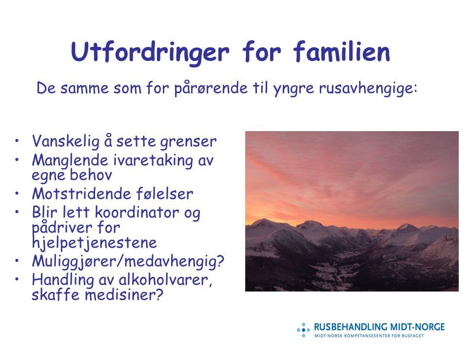 13 Utfordringer for familien Vanskelig å sette grenser Manglende ivaretaking av egne behov Motstridende følelser Blir lett koordinator og pådriver for hjelpetjenestene Muliggjører/medavhengig.