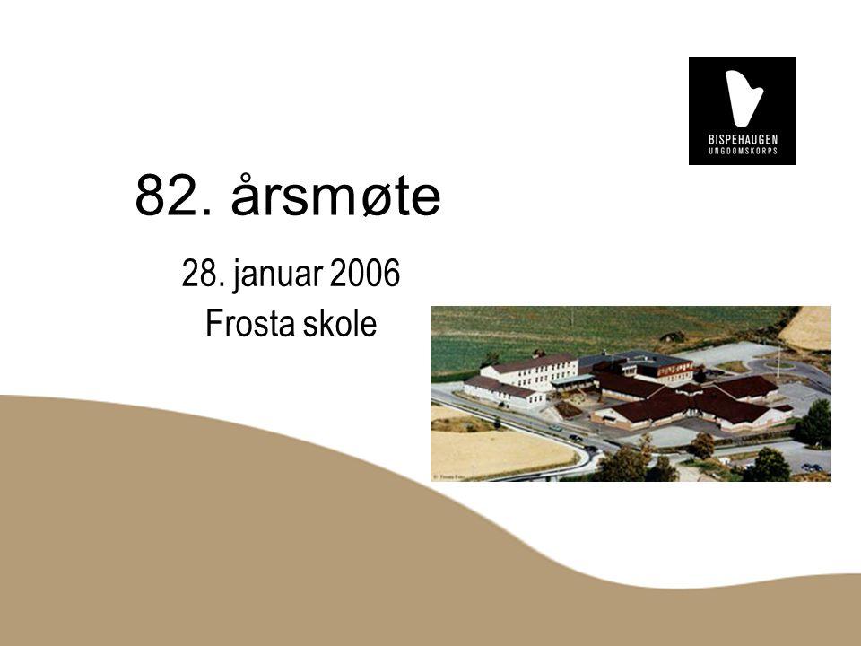 82. årsmøte 28. januar 2006 Frosta skole