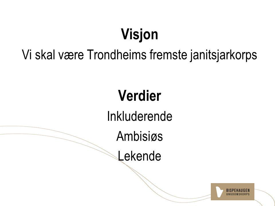 Visjon Vi skal være Trondheims fremste janitsjarkorps Verdier Inkluderende Ambisiøs Lekende