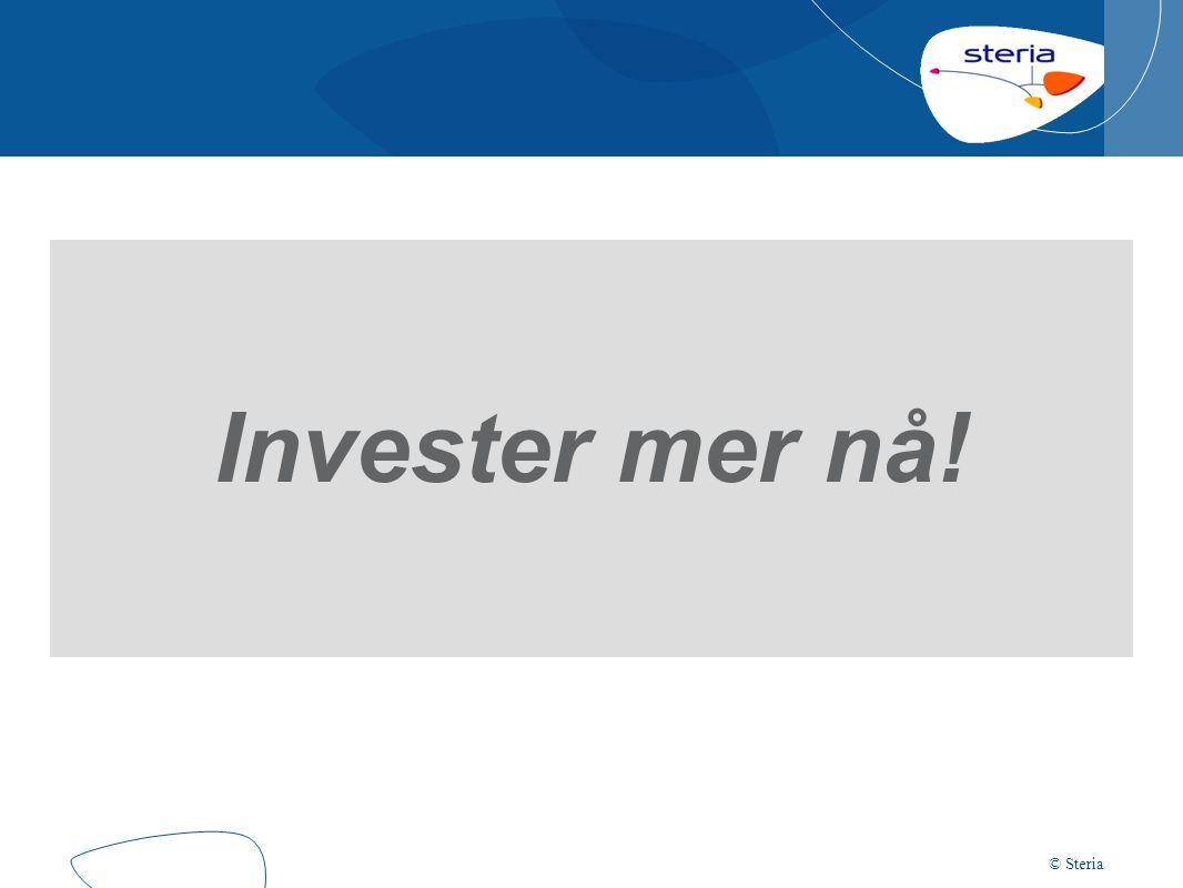 © Steria Invester mer nå!