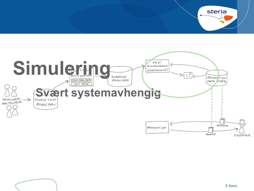 © Steria Simulering Svært systemavhengig