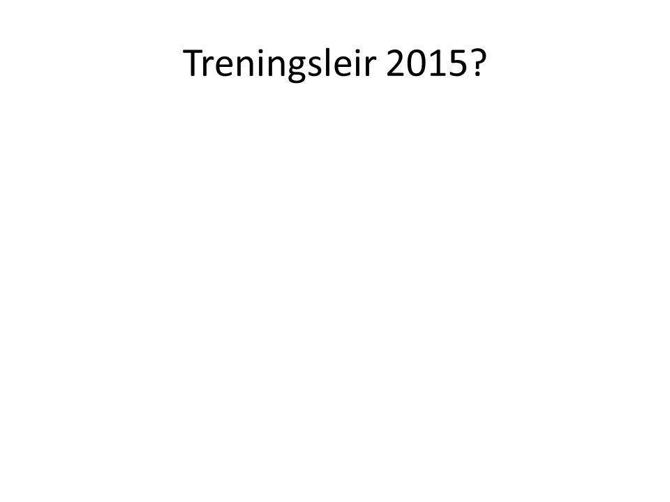 Treningsleir 2015?