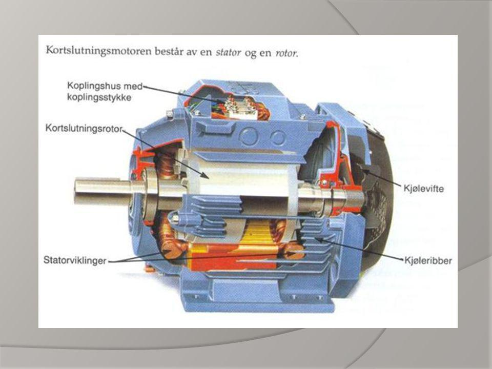 En trefasemotor har tre statorviklinger, disse kan være stjernekoblet (Y kobling) eller trekantkoblet (Δ kobling).