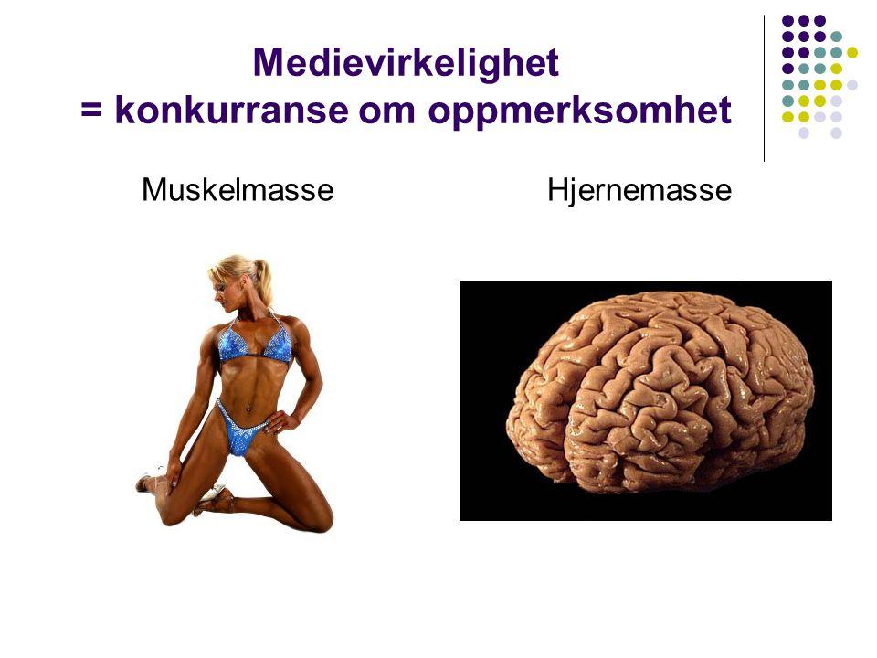 Medievirkelighet = konkurranse om oppmerksomhet MuskelmasseHjernemasse