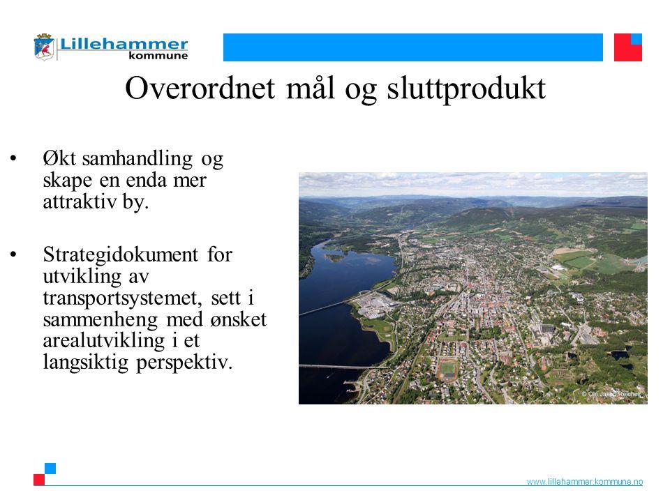 www.lillehammer.kommune.no Overordnet mål og sluttprodukt Økt samhandling og skape en enda mer attraktiv by. Strategidokument for utvikling av transpo
