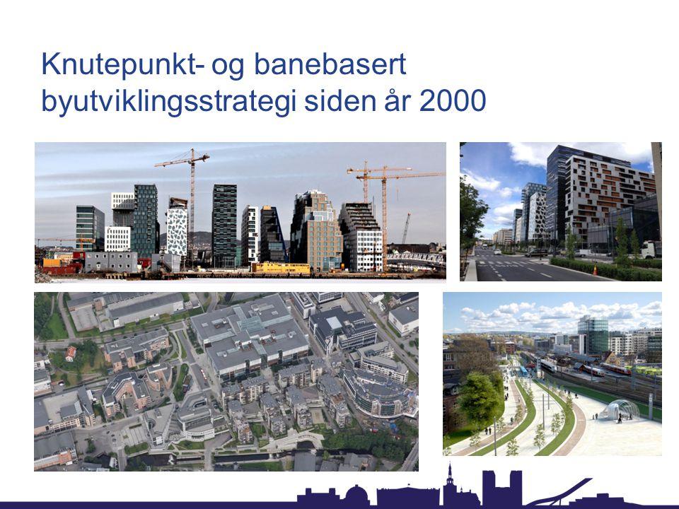 Knutepunkt- og banebasert byutviklingsstrategi siden år 2000