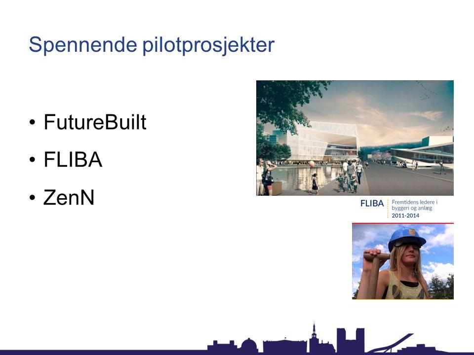 Spennende pilotprosjekter FutureBuilt FLIBA ZenN