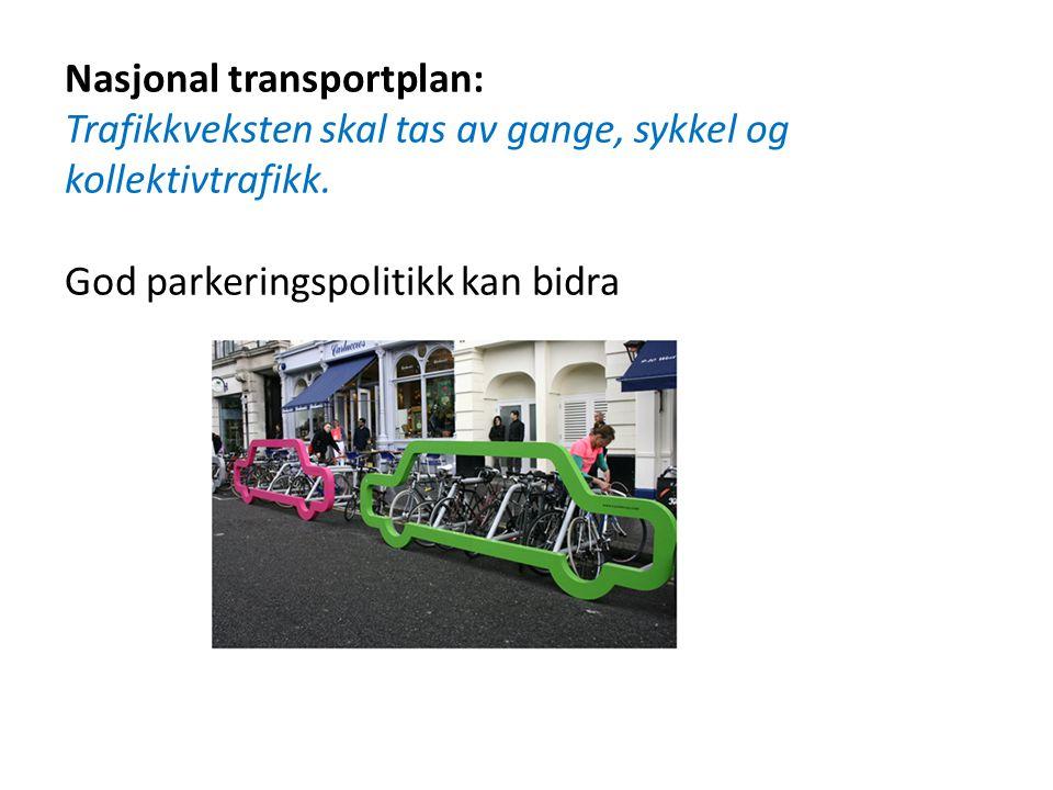 Nasjonal transportplan: Trafikkveksten skal tas av gange, sykkel og kollektivtrafikk.