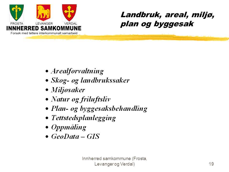 Innherred samkommune (Frosta, Levanger og Verdal)19 Landbruk, areal, miljø, plan og byggesak