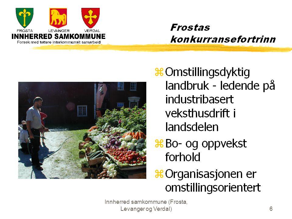 Innherred samkommune (Frosta, Levanger og Verdal)17 Administrasjonen Det har vært arbeidet med 3 modeller: 1.