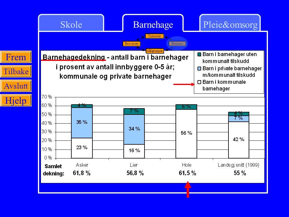 SkolePleie&omsorgBarnehage Frem Tilbake Avslutt Hjelp Ressurser Tjenester Målgrupper Brukere