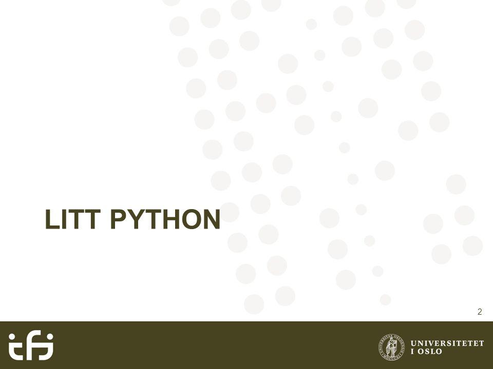 LITT PYTHON 2