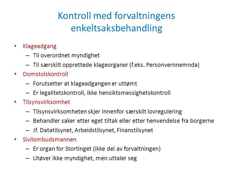 Enkeltsaksbehandling: Delegasjon, instruksjon og organisasjonsmyndighet Utgangspunkt om hierarki og overordningsforhold, jf.