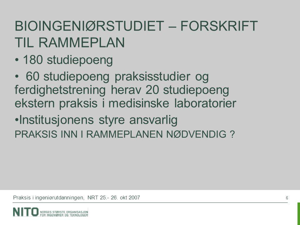 6 Praksis i ingeniørutdanningen, NRT 25.- 26.