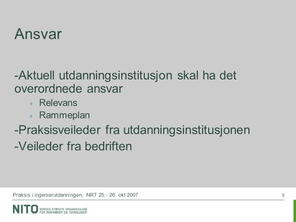 8 Praksis i ingeniørutdanningen, NRT 25.- 26.