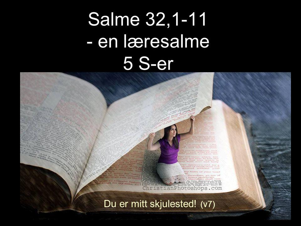 Salme 32,1-11 - en læresalme 5 S-er Du er mitt skjulested! (v7)