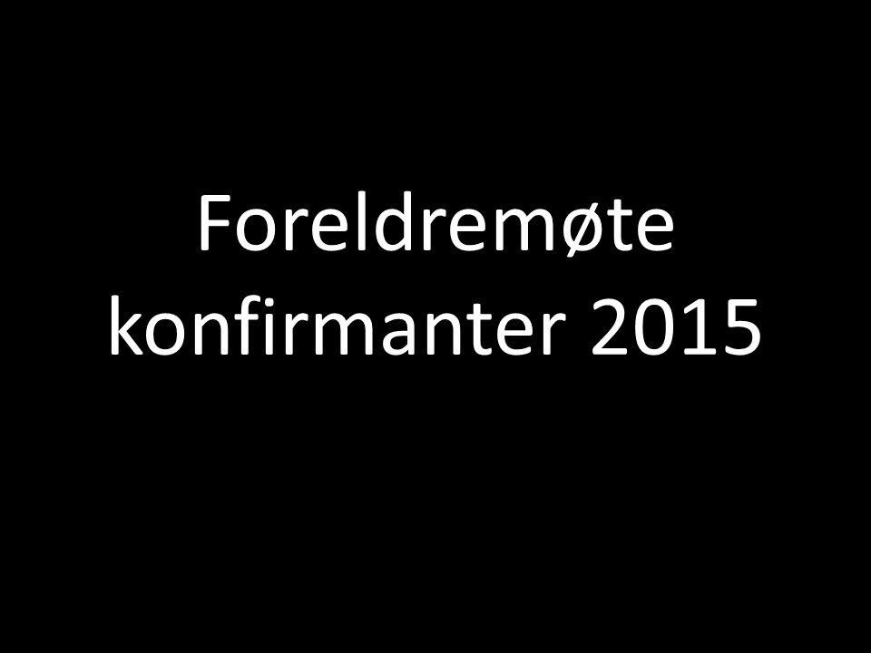Konfirmanter søndag 3.