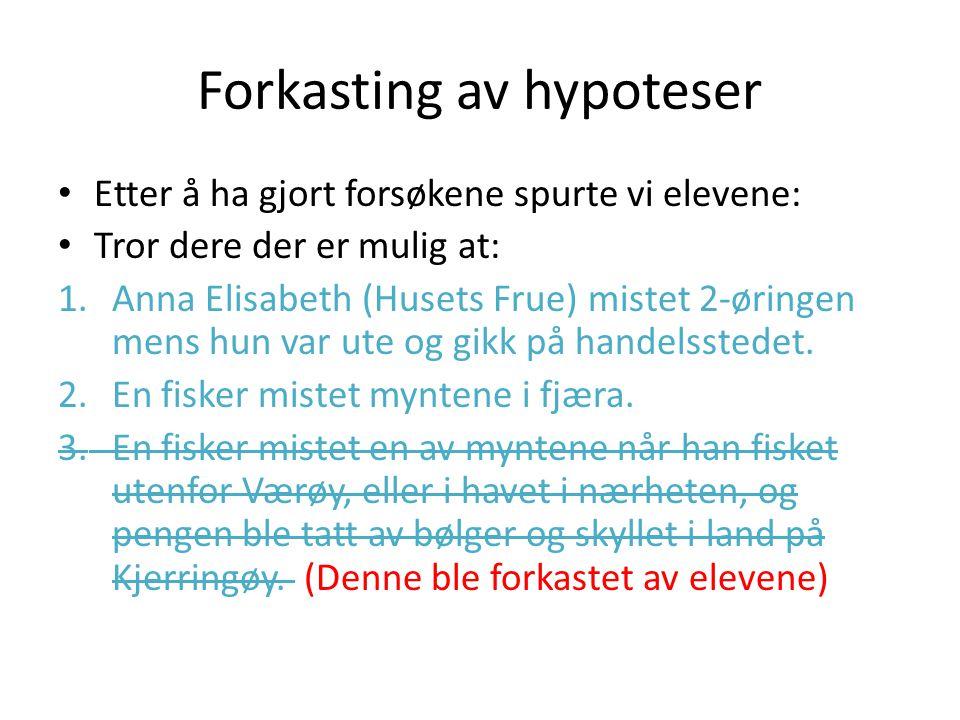 To hypoteser igjen.Hva er mest sannsynlig Besøk på Kirkegården på Kjerringøy.