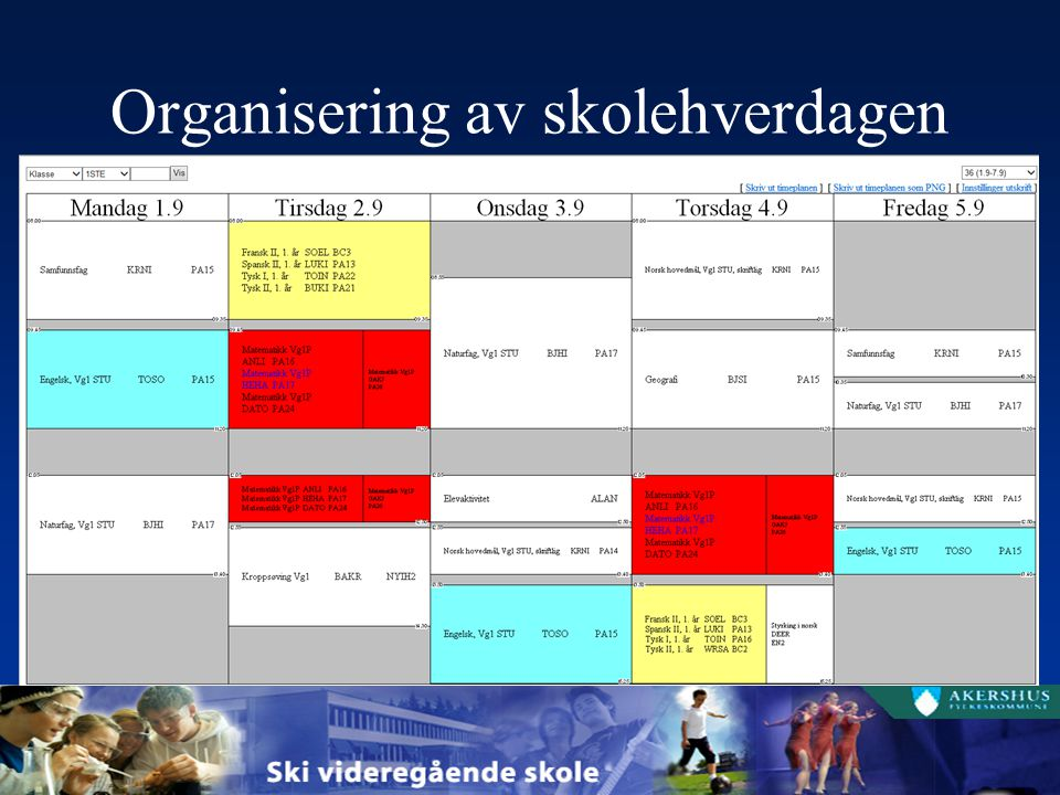 Organisering av skolehverdagen
