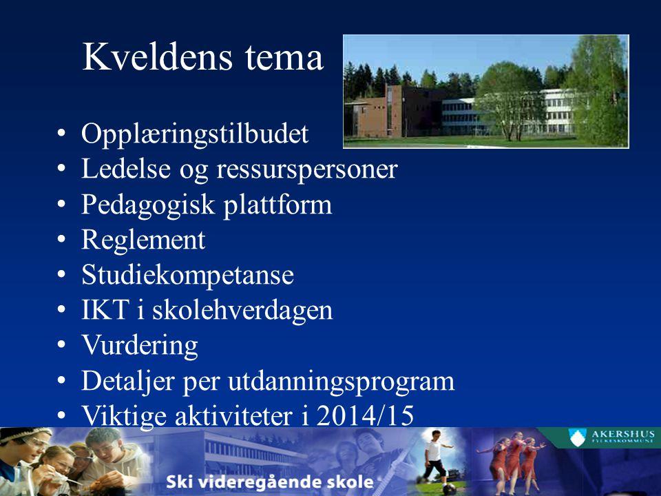 Fellesfag på SSP Vg1, 30 timer i uka Norsk, 4 timer Engelsk, 5 timer Fremmedspråk, 4 timer Samfunnsfag, 3 timer Matematikk, 5 timer Naturfag, 5 timer Geografi, 2 timer Kroppsøving, 2 timer