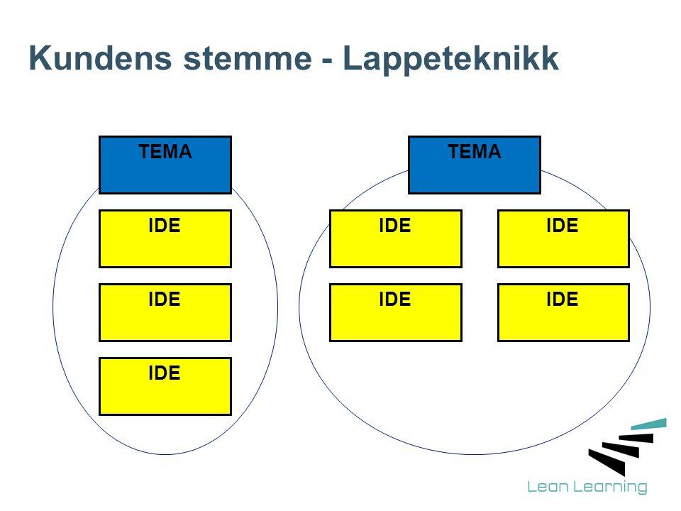 Kundens stemme - Lappeteknikk TEMA IDE TEMA IDE