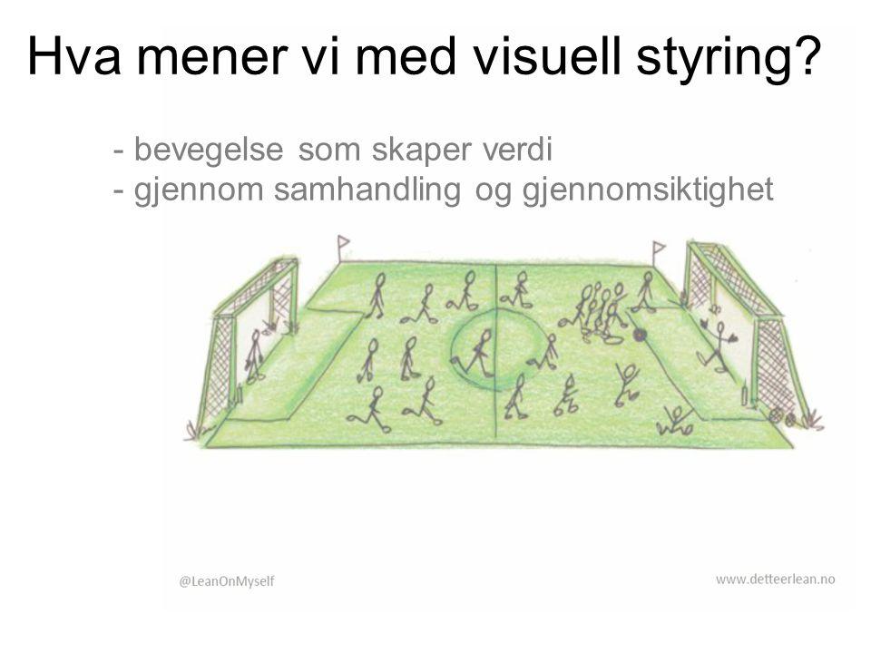 Hva mener vi med visuell styring? - bevegelse som skaper verdi - gjennom samhandling og gjennomsiktighet