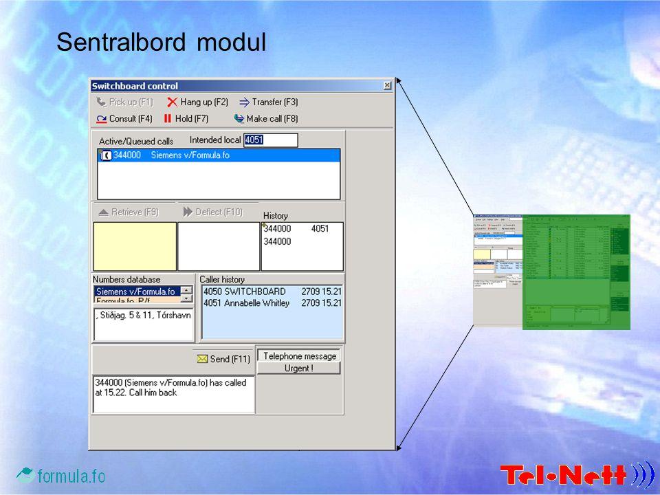 Tilkobling – en lokasjon ISDN HG1500/LIM TotalView Server TotalView Sentralbord MS Exchange Server TotalView Exchange Connector