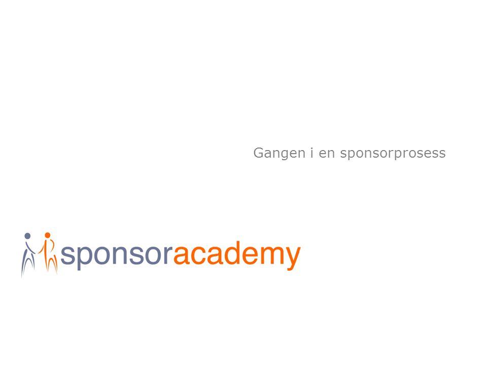 Gangen i en sponsorprosess