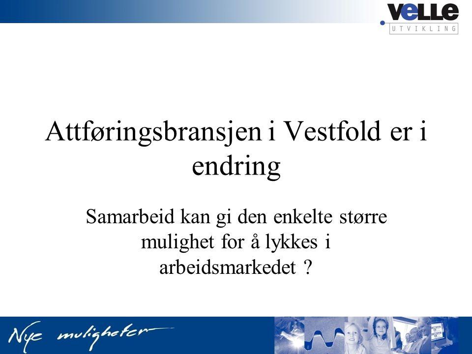 Attføringsbransjen i Vestfold er i endring Samarbeid kan gi den enkelte større mulighet for å lykkes i arbeidsmarkedet ?