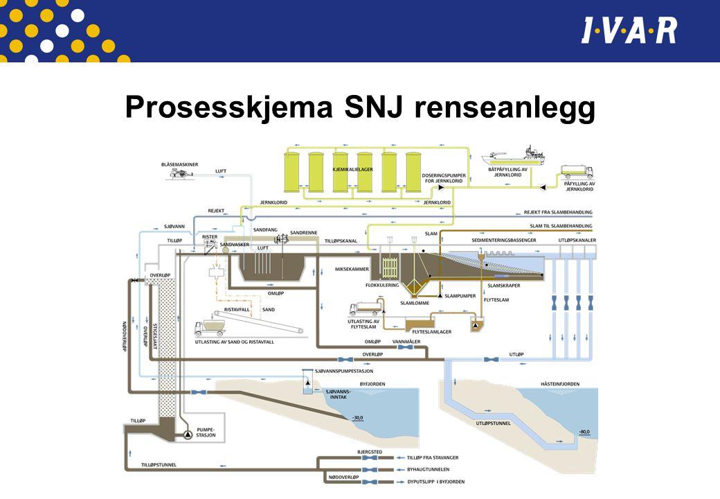 Prosesskjema SNJ renseanlegg