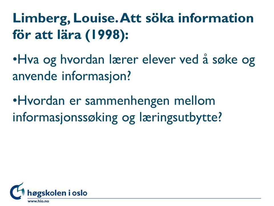 Limberg, Louise.