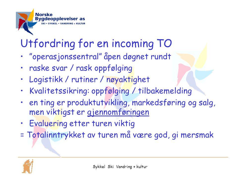 """Utfordring for en incoming TO """"operasjonssentral"""" åpen døgnet rundt raske svar / rask oppfølging Logistikk / rutiner / nøyaktighet Kvalitetssikring: o"""