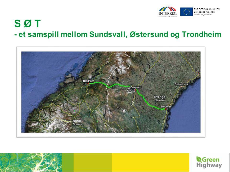 EUROPEISKA UNIONEN Europeiska regionala utvecklingsfonden S Ø T - et samspill mellom Sundsvall, Østersund og Trondheim