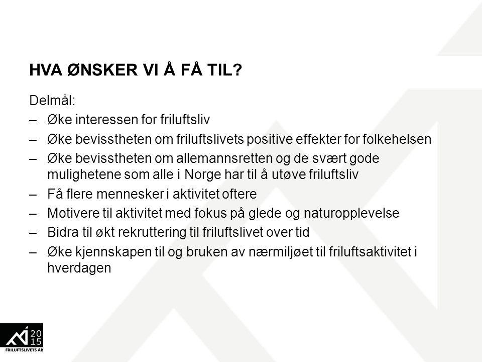 HVEM ØNSKER VI Å NÅ.