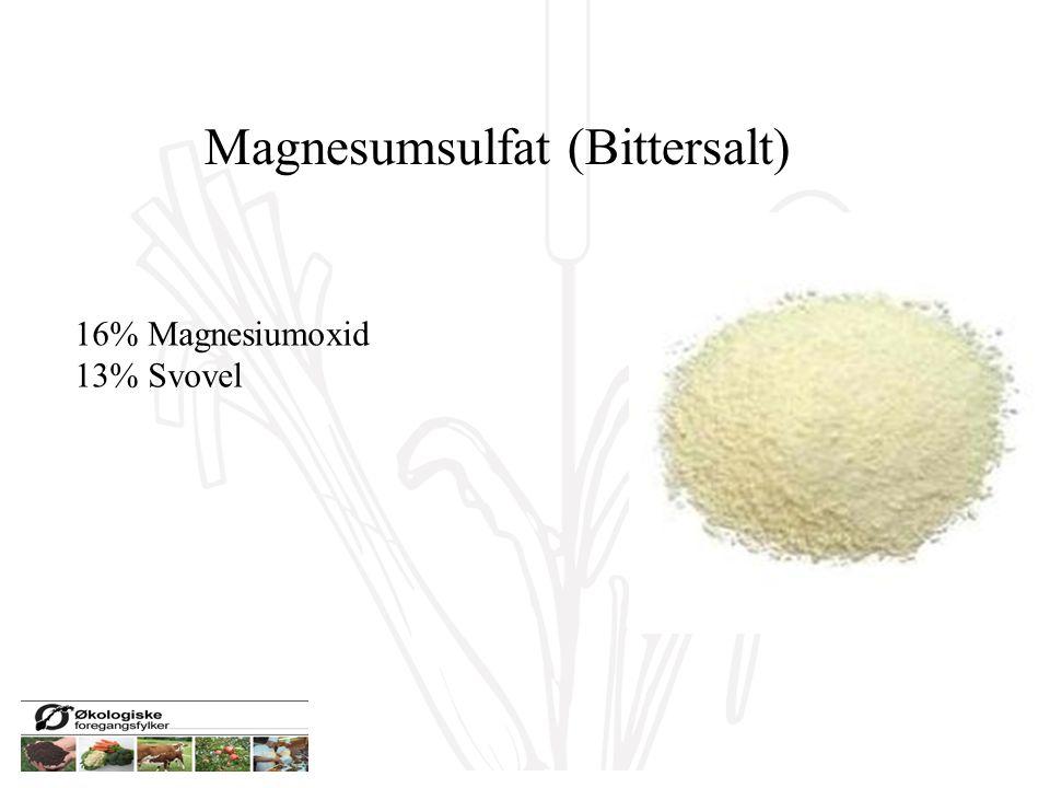 Magnesumsulfat (Bittersalt) 16% Magnesiumoxid 13% Svovel